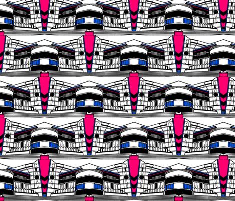 Art Deco Rivoli Repeat - Bright fabric by upcyclepatch on Spoonflower - custom fabric