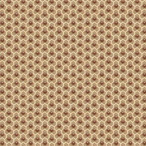 Brown & Red calico