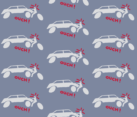 Ouch! Outbreak of Bike Accidents fabric by susaninparis on Spoonflower - custom fabric
