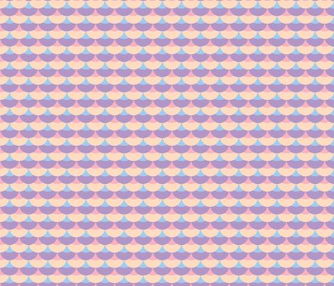 Sweet Scallops fabric by audzipan on Spoonflower - custom fabric