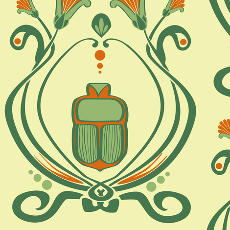 the third egyptian revival fabric by p_kok on Spoonflower - custom fabric
