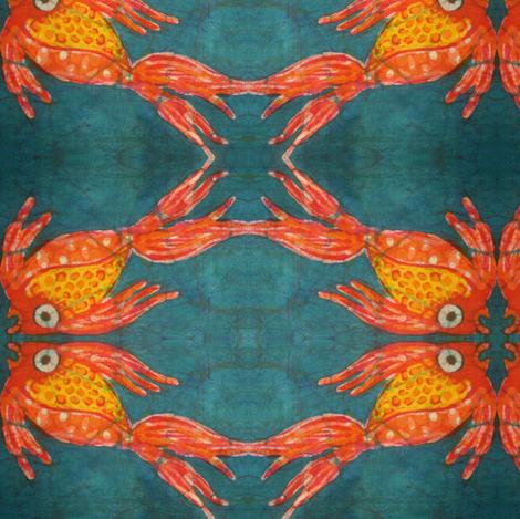 kate's fish batik, mirror repeat fabric by hooeybatiks on Spoonflower - custom fabric