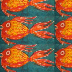 18 goldfish decals