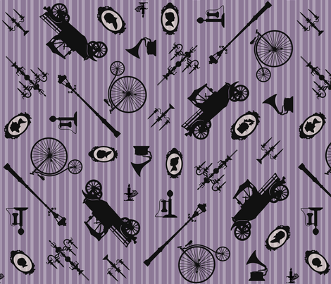 Lilac Heirloom Atmosphere fabric by pyralisdesign on Spoonflower - custom fabric