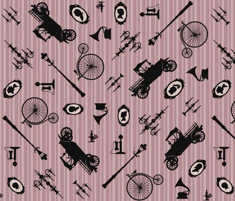 Rose Heirloom Atmosphere fabric by pyralisdesign on Spoonflower - custom fabric