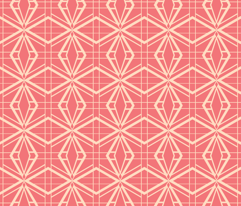 Thoroughly Deco in Pink fabric by miart on Spoonflower - custom fabric