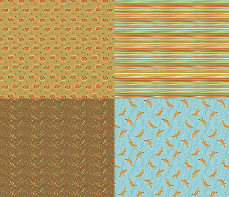 Aussie critters 4 in 1 B fabric by cjldesigns on Spoonflower - custom fabric