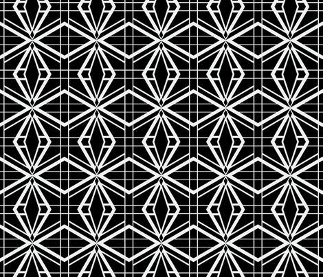 Thoroughly Deco in Black fabric by miart on Spoonflower - custom fabric