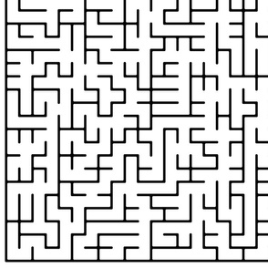 Big Maze Puzzle Fabric