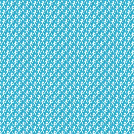 Walk - Blue fabric by siya on Spoonflower - custom fabric