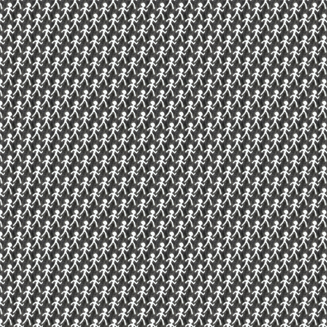 Walk - Charcoal fabric by siya on Spoonflower - custom fabric