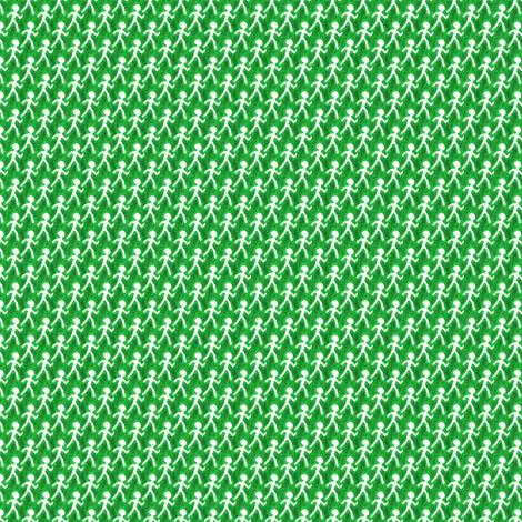 Walk - Green fabric by siya on Spoonflower - custom fabric