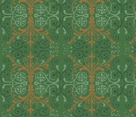 green_art_deco4 fabric by wiccked on Spoonflower - custom fabric