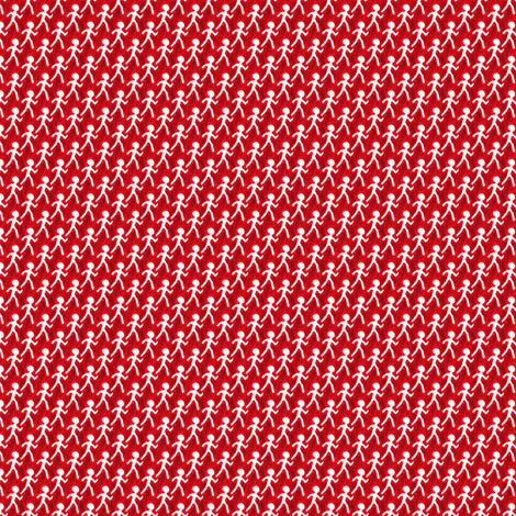 Walk - Red fabric by siya on Spoonflower - custom fabric