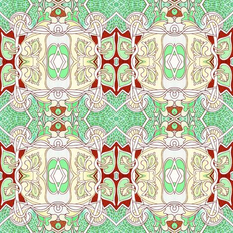 Delicate Heart-Flower Gavotte fabric by edsel2084 on Spoonflower - custom fabric