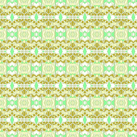 Victorian Lemon Lime fabric by edsel2084 on Spoonflower - custom fabric