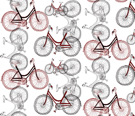 bike fabric by wiccked on Spoonflower - custom fabric