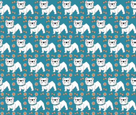 Victor the Little Bulldog fabric by missyq on Spoonflower - custom fabric