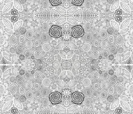 AbstraxFlowerSwirls fabric by ghennah on Spoonflower - custom fabric