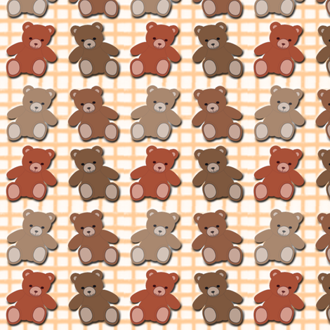 teddy bears fabric by krs_expressions on Spoonflower - custom fabric