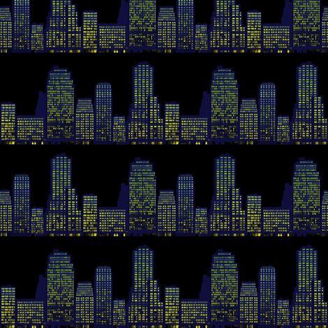 city at night fabric by krs_expressions on Spoonflower - custom fabric