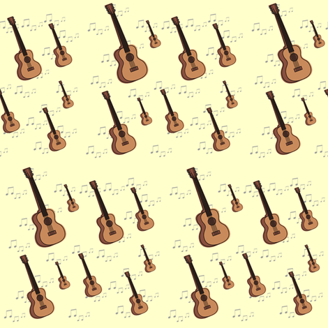 guitars & notes fabric by krs_expressions on Spoonflower - custom fabric