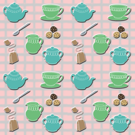 tea party fabric by krs_expressions on Spoonflower - custom fabric