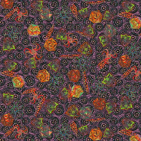 The Ditsiest Sealife of Them All - Diatoms! Over the Rainbow fabric by glimmericks on Spoonflower - custom fabric
