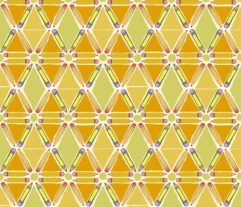 Pencil Geometric fabric by gsonge on Spoonflower - custom fabric