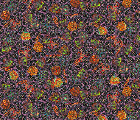 The Ditsiest Sealife of Them All - Diatoms! Over the Rainbow-2x fabric by glimmericks on Spoonflower - custom fabric
