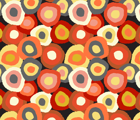 Target Dots- warm fabric by gsonge on Spoonflower - custom fabric