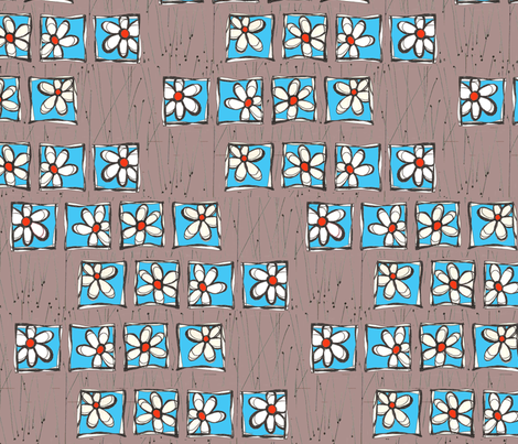 Flowers in Twigs fabric by orangesweater on Spoonflower - custom fabric