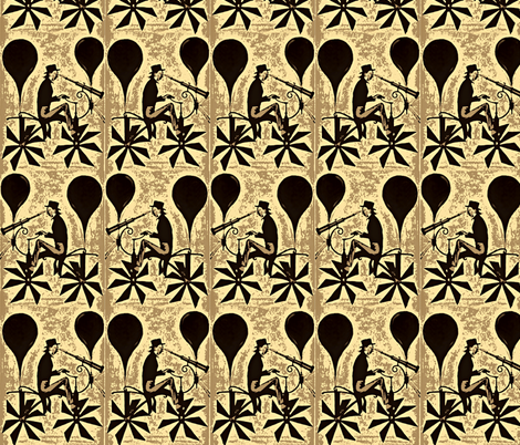 Gotcha Coming and Going fabric by whimzwhirled on Spoonflower - custom fabric