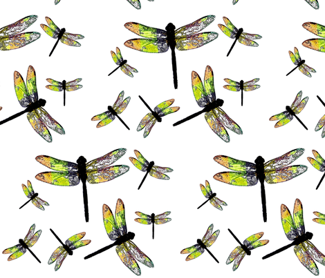 DRAGONFLIES fabric by bluevelvet on Spoonflower - custom fabric
