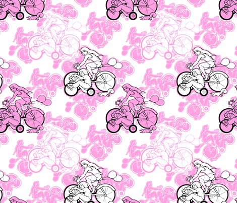pink bikes fabric by hannafate on Spoonflower - custom fabric