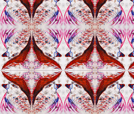 Fancy Feathers fabric by julie_and_warren on Spoonflower - custom fabric