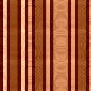 Burnt Sienna & Raw Umber Striped Moire