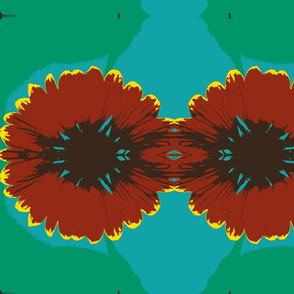Fire Wheel Flower