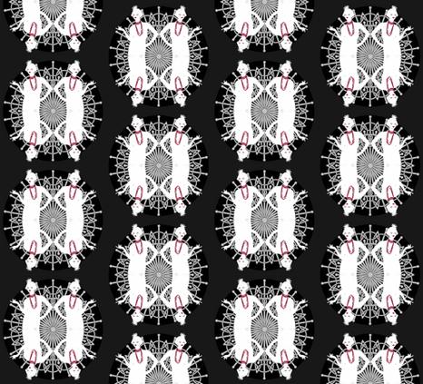 flappers fabric by kociara on Spoonflower - custom fabric