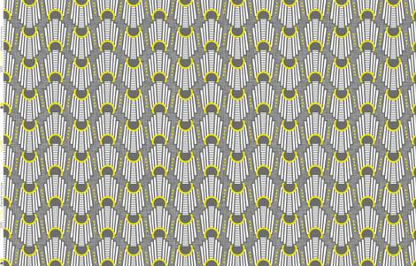 Art Deco Rings Yellow fabric by zesti on Spoonflower - custom fabric