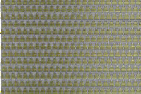 Art Deco Towers Yellow Dark Grey fabric by zesti on Spoonflower - custom fabric