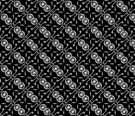White Bike 1, S fabric by animotaxis on Spoonflower - custom fabric