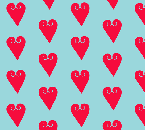 I Love You and Your Chairs fabric by susaninparis on Spoonflower - custom fabric