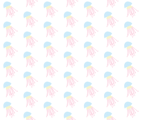 Jellyfish 1, S fabric by animotaxis on Spoonflower - custom fabric