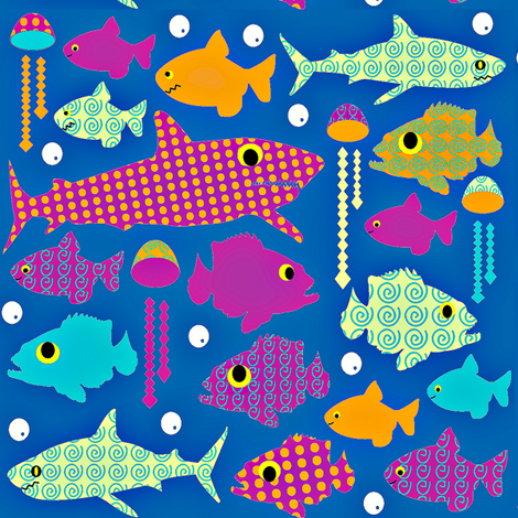 under the blue  fabric by amy_frances_designs on Spoonflower - custom fabric