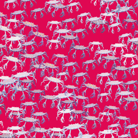 Ditsy Crabs 7 fabric by animotaxis on Spoonflower - custom fabric