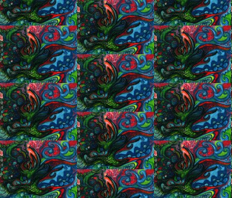 Fish Out Of Water Abstract Fabric Heatherpeterman