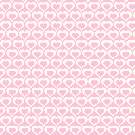 My Love Grows - Valentine's Day Hearts Pink fabric by heatherdutton on Spoonflower - custom fabric