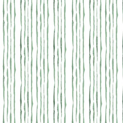 Shades of Green Hand-Drawn Stripes fabric by bargello_stripes on Spoonflower - custom fabric