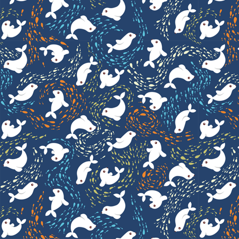 Seals are great fisherman! fabric by verycherry on Spoonflower - custom fabric